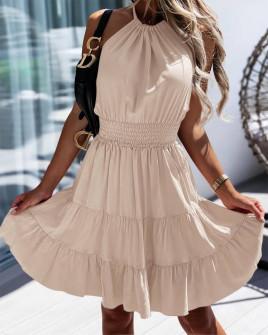 Γυναικείο κλος φόρεμα 5855 μπεζ