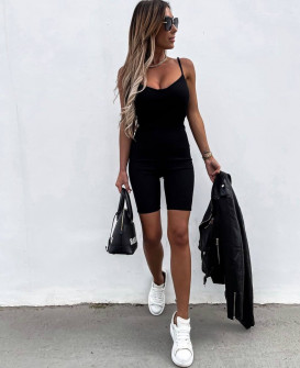 Γυναικεία αθλητική ολόσωμη φόρμα 2448 μαύρη
