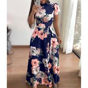 Γυναικείο plus size φόρεμα 21478 μπλε