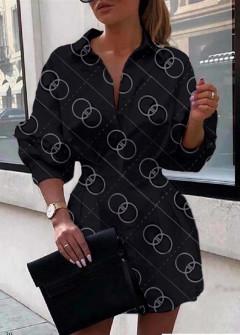 Γυναικεία πουκαμίσα 398305 μαύρο
