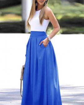 Γυναικεία μακριά φούστα 5002 μπλε