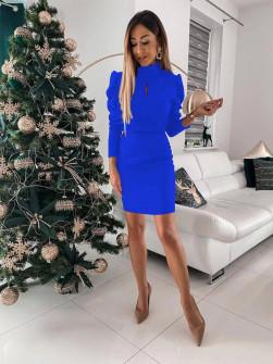 Γυναικείο εφαρμοστό φόρεμα 8047 μπλε