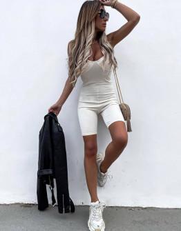 Γυναικεία αθλητική ολόσωμη φόρμα 2448 άσπρη