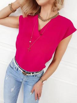 Γυναικεία μπλούζα με βαθύ ντεκολτέ 5089 φούξια