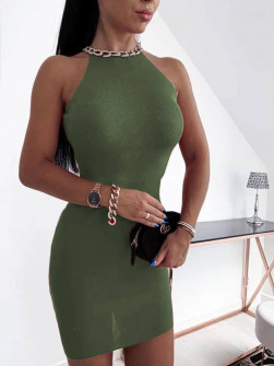 Εντυπωσιακό φόρεμα 2675 σκούρο πράσινο