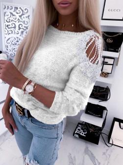 Γυναικεία εντυπωσιακή μπλούζα 2872 άσπρη