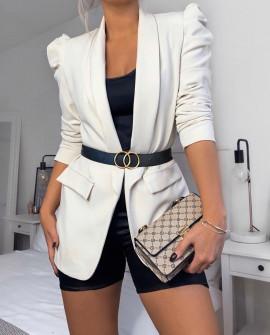 Γυναικείο κομψό σακάκι 3969 άσπρο