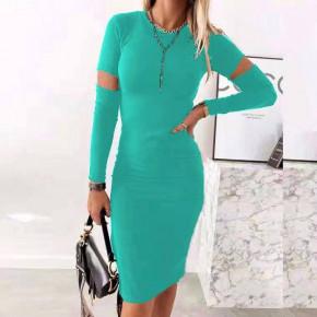 Γυναικείο εφαρμοστό φόρεμα 2722 μέντα
