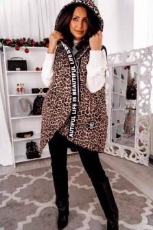 Γυναικείο μπουφάν με λεοπάρ print 82000