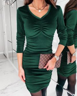 Γυναικείο εφαρμοστό φόρεμα 3434 πράσινο