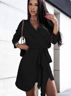 Γυναικείο φόρεμα κρουαζέ 3795 μαύρο