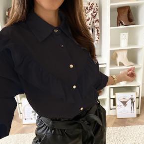 Γυναικείο εντυπωσιακό πουκάμισο 3551 μαύρο