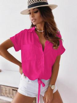 Γυναικείο πουκάμισο με δέσιμο 5606 φούξια