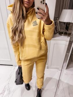 Γυναικείο σετ με κουκούλα 4221 κίτρινο