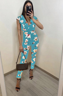 Γυναικεία ολόσωμη φόρμα 2308 τυρκουάζ