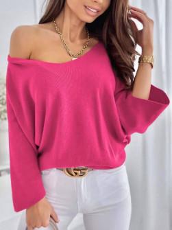 Γυναικεία χαλαρή μπλούζα 00702 φούξια