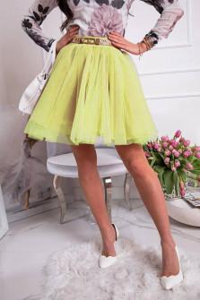 Γυναικεία κλος φούστα 3575 κίτρινη