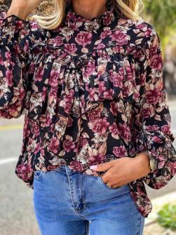 Γυναικεία μπλούζα 12489 μαύρη
