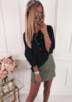 Γυναικεία πλεκτή μπλούζα 4440 μαύρη