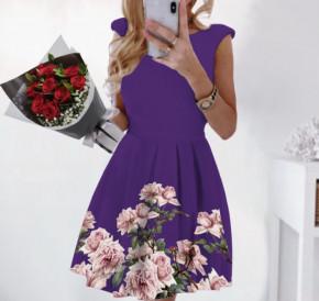 Γυναικείο φόρεμα 2699 μωβ