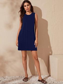 Γυναικείο μπλουζοφόρεμα 5175 σκούρο μπλε