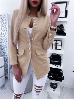 Γυναικείο σουετ σακάκι 5073 μπεζ