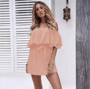 Γυναικείο έξωμο φόρεμα 8236 ροζ