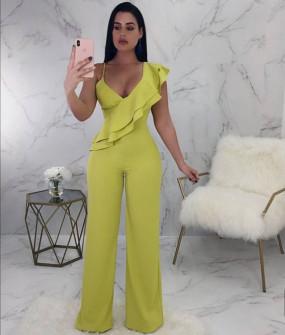 Γυναικεία ολόσωμη φόρμα 3097 κίτρινη