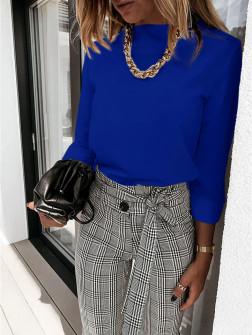 Γυναικεία μπλούζα λουπέτο 5300 μπλε