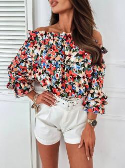 Γυναικεία μπλούζα με εντυπωσιακό ντεσέν 5812206
