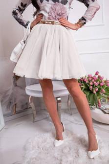 Γυναικεία κλος φούστα 3575 άσπρο