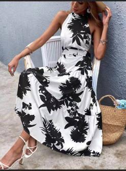 Γυναικείο μακρύ φόρεμα 625709