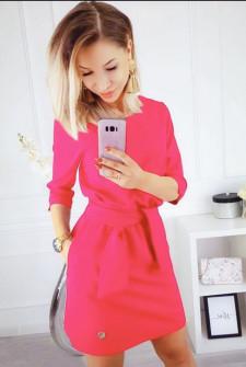 Γυναικείο φόρεμα 3327 ροζ νεόν