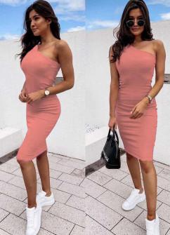 Γυναικείο έξωμο φόρεμα 5124 κοραλί