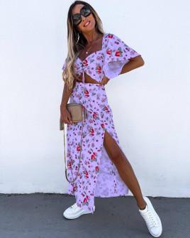 Γυναικείο μακρύ φόρεμα με σχέδια 5614408