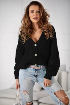 Γυναικεία κοντή ζακέτα 2005 μαύρη