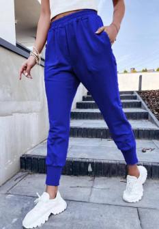 Γυναικείο χαλαρό παντελόνι 61544 μπλε