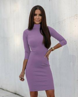 Γυναικείο εφαρμοστό φόρεμα 3739 λιλά