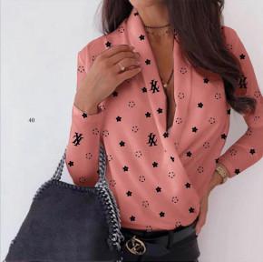 Γυναικεία μπλούζα κρουαζέ 502007 κοραλί