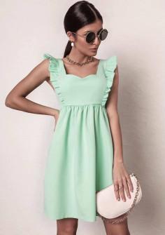 Γυναικείο φόρεμα με εντυπωσιακό ντεκολτέ 20510 πράσινο