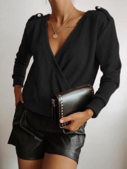 Γυναικεία μπλούζα 71548 μαύρη