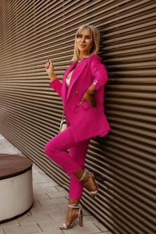 Γυναικείο σετ σακάκι και παντελόνι 5911 φούξια