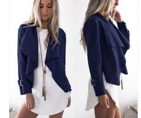 Γυναικείο σακάκι χωρίς φόδρα 5292 σκούρο μπλε