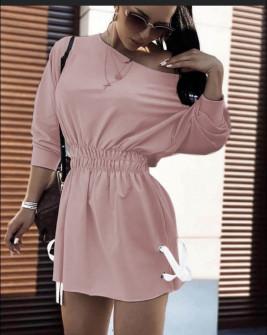 Γυναικείο αθλητικό φόρεμα 19743 ροζ