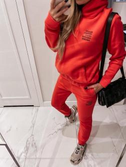 Γυναικείο σετ με κουκούλα 4221 πορτοκαλί