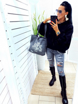 Γυναικείο φούτερ 10555 μαύρο