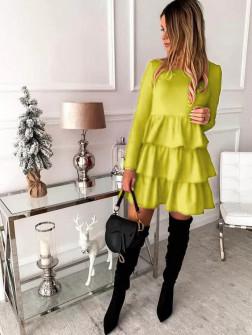 Γυναικείο φόρεμα 3952 κίτρινο