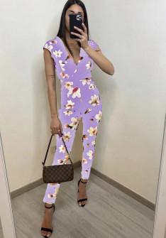 Γυναικεία ολόσωμη φόρμα 2308 λιλά