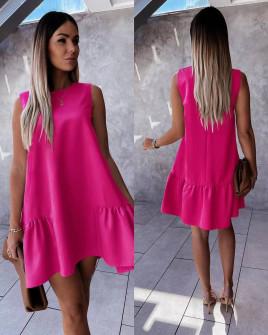 Γυναικείο χαλαρό φόρεμα 5684 φούξια