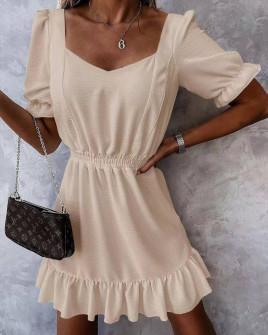 Γυναικείο χαλαρό φόρεμα 5712 μπεζ
